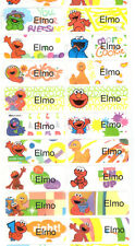 Sesame Street Elmo Personalized Waterproof Name label sticker x52 Large