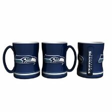 Seattle Seahawks Coffee Mug Relief Sculpted Team Color Logo - 15 oz NEW Blue