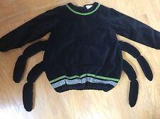 POTTERY BARN KIDS Costume Black Velvet SPIDER Halloween Top 4-6