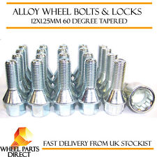Wheel Bolts & Locks (16+4) 12x1.25 Nuts for Peugeot 406 V6 Coupe 97-04