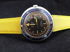 Rear NOS Automatic Techron YEMA Wristmaster Vintage Diver , Time Date  watch