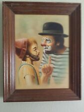 Father & Son Clown Training OIL PAINTING Signed HOPPIN