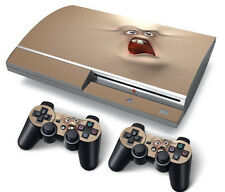 PS3 Original PlayStation 3 Skin Stickers PVC for Console & 2 Pads Scared Face