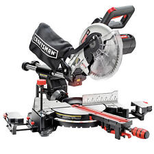 Craftsman 10'' Single Bevel Sliding Compound Laser Guided Miter Saw Precision NW