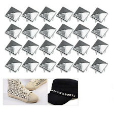 50x 9mm Pyramid Square Nailhead Studs Spike Tacks -Great for DIY Crafts