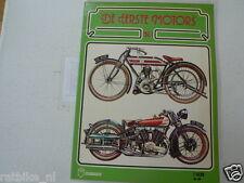 NR 1 DE EERSTE MOTORS PICTURE BOOK CLASSIC MOTORCYCLES,OPEL,FN,PREMIER,INDIAN