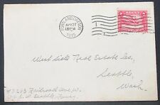 Panama Canal US Postal History Envelope Portland Stamp 2c 1915 USA Brief H-10968