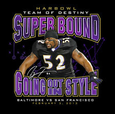 RAVENS TEE SHIRT Ray Lewis HARBOWL SUPERBOWL XLVII Going Out In Style 4XL XXXXL