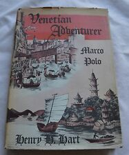 RARE! 1942 VENETIAN ADVENTURER MARCO POLO by Henry H Hart, SIGNED BY AUTHOR(7)