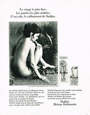 PUBLICITE ADVERTISING 074  1969  HELENA RUBINSTEIN   cosmétiques NUDINE