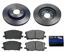 Front Ceramic Brake Pad Set & Rotor Kit for 2008 Mitsubishi Lancer DE-GTS