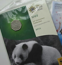 2011 50P COIN RARE WWF WORLD WILDLIFE * BRILLIANTLY UNCIRCULATED * FIFTY PENCE @