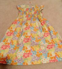 Gymboree Butterfly Blossoms Cotton Smocked Floral Dress For Easter 12 EUC