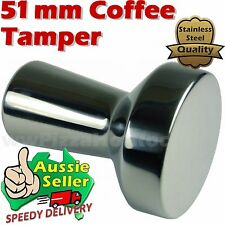 Coffee Tamper Espresso 51mm filter basket  Polished Stainless Steel SS