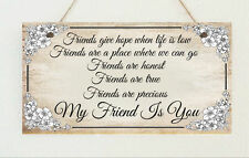 Beautiful Hand Made Best Friend Shabby Gift Present Sign Plaque Chic