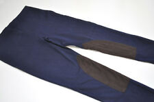 Ralph Lauren Womens Equestrian Stretch Faux Suede Navy Leggings Pants Sz L NWT