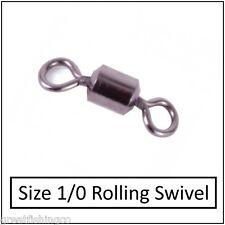 50 rolling swivels size 1/0 good for all sea rigs  rigs boat rigs fishing swivel