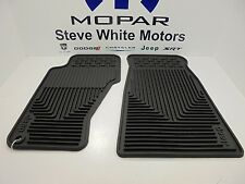 99-04 Jeep Grand Cherokee New Front Slush Floor Mats Mopar Dark Slate Mopar Oem
