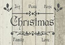 A5 Stencil Shabby Chic'NEW' CHRISTMAS, French, Furniture, Fabric, Glass, Mylar