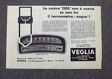 H008 - Advertising Pubblicità - 1963 - VEGLIA IL TERMOMETRO ACQUA