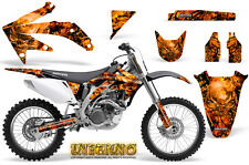 HONDA CRF 450 R 2005-2008 GRAPHICS KIT DECALS STICKERS CREATORX INFERNO O