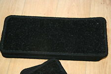 14 Glitter Open Plan Carpet Stair Treads Black Sparkle Pads! 14 Large Pads!