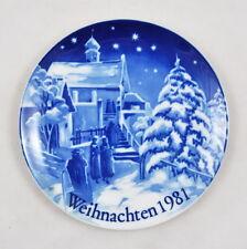 Weihnachten 1981 Sammelteller / Wandteller (Bavaria Porzellan) Christmette