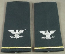 US Army Colonel Large Size Officer Shoulder Marks / Epaulets ( Green Pair )