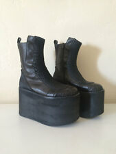 Cyber GOTH Tower Platform Vintage Japan Alien Space Boots Swear Buffalo Vegan