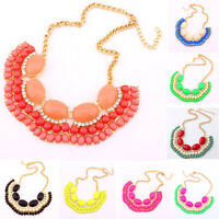 Fashion Charm Jewelry Chain Crystal Choker Chunky Statement Bib Knit Necklace