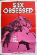 SEX OBSESSED one sheet movie poster 28x42 SEXPLOITATION 1973 RARE NM Not Repro