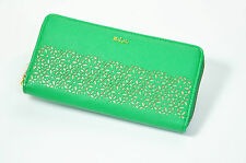 Lauren Ralph Lauren Chantilly Zip Around Wallet New With Tag Green