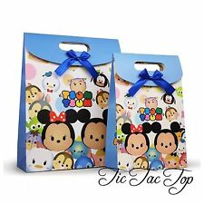 6 X TSUM TSUM MICKEY MINNIE PARTY PAPER LOOT LOLLY GIFT BAG Supplies