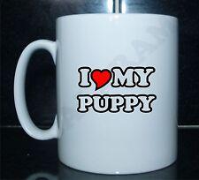 I LOVE/CUORE MY PUPAZZO Con Stampa Mug Regalo CUCCIOLO DI CANE