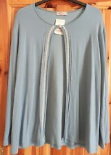 LADIES BONMARCHE CARDIGAN LIGHT BLUE 1 BUTTON LONG SLEEVE SIZE XL 22 24 BNWT