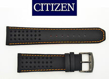 Citizen CA0467-11H ECO-DRIVE BLACK watch band 23mm STRAP orange stitches