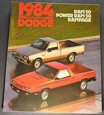 1984 Dodge Rampage & Ram 50 Pickup Truck Brochure 2.2 Power Excellent Original