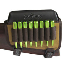 Tourbon Rifle Ammo Holder Butt Cheek Piece Rest Pad Buttstock Gun Left Handed