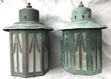 Pair Of Vintage Copper Porch Lights