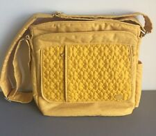 "Lug ""Live Life in Color"" Marigold Yellow Cross Body Bag With 10 Compartment"