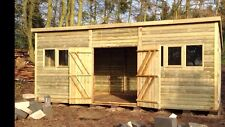 "20x10 19mm t&g LOG Tanalised ""DULUXE HEAVY DUTY"" PENT Shed/Workshop"