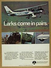 1970 Rockwell Lark Commander airplane aircraft photo vintage print Ad