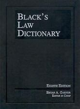 Black's Law Dictionary, Eighth Edition (Black's Law Dictionary (Standa-ExLibrary
