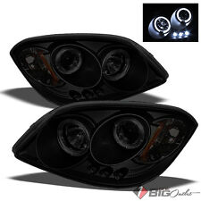For 07-09 G5, 05-10 Cobalt Mystery Black Smoked Halo Projector Headlights w/LED