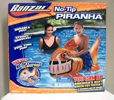 NEW BANZAI NO-TIP RIDE ON PIRANHA FISH POOL FLOAT TOY PVC INFLATABLE 31551
