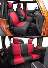 Smittybilt Custom Fit Front/Rear Neoprene Seat Covers 13-16 2dr Jeep Wrangler JK