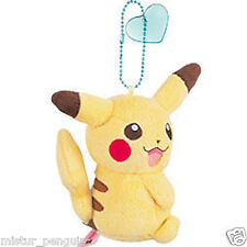 "Pokemon Go I Love Pikachu Ball-Chain 3"" Plush Doll Toy Blue Heart Keychain"