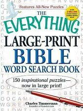 The Everything Large-Print Bible Word Search Book: 150 inspirational puzzles -..