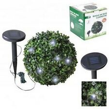 LAMPE BOULE BUISSON BUIS LUMINEUSE GUIRLANDE SOLAIRE RECHARGEABLE JARDIN NEUF 98