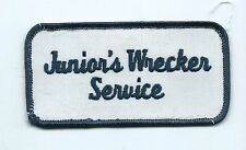 Junior's Wrecker Service employee/driver patch 2 X 3-7/8 Vinita OK